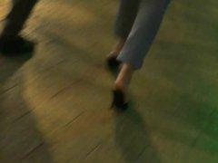 Candid high heels mules