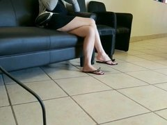 Asian legs at the car wash