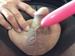 Playing small cock in pantyhose