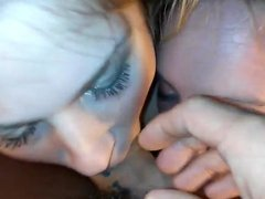 Horny teens eat each other and blow me with facial