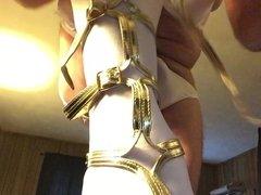 Erica puts on her new heels