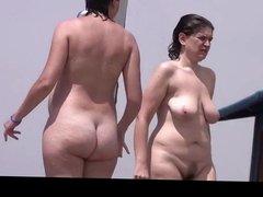 Estrangeiro - Hidden Cam, pregnant lady in the beach part3