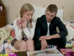 Deluxe skinny teen trouble fuck with close holes 16
