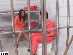Busty London Keyes and Jessica Bangkok are bad girls in prison