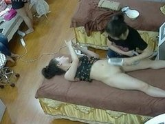 Girls shaving their pussies caught on hacked camera part1