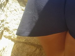 The best upskirt of flashing girl in mini dress