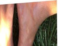 Oiled Feet & Oiled Cock in the Sun