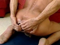 Taking huge dildo deep into my ass and colon