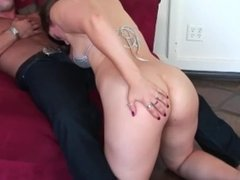 Her tight pussy is way to slippery not to cum inside of it