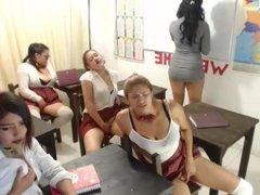 Schoolgirls at cam show 2