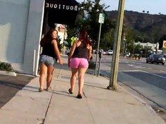 Latinas nice legs candid street compilation