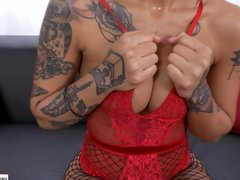 FirstClassPOV - Honey Gold punished by a monster cock
