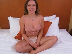 Auditioning babe plowed by casting producer