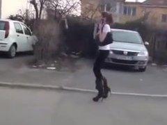 CUTE TEEN DOLL - GIRL WALKING ON HIGH HEELS - CARS