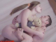 Petite teen pornstar loves huge cock