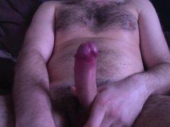 Big dick dad playing on cam shooting tons of cum