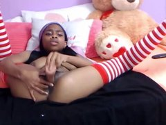 Sexy teen black Nova with hot tits and blow job lips