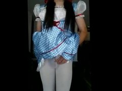 Linda Shemale mexicana gozando na webcam