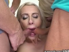 DogHouse Czech MILF Anally Creampied After Gangbang!!