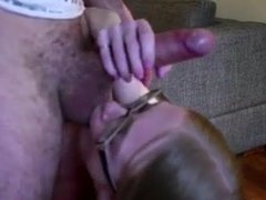 Perfect blowjob for a young couple deep