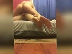 Cuckold husband and wife gets fucked by a real bull