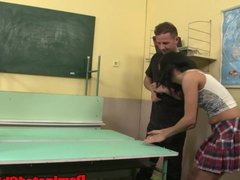 Facialized euro student gets dominated