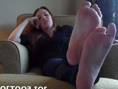 You are a lucky boy to get to play with these feet