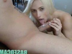 Blonde With Big Tits Sucks Dick and Gets Pounded