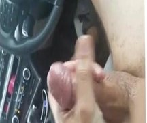 Jerking off and cumming in public for a stranger in my car
