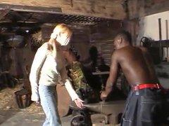 Blonde German Girl Fucked Hard by African Men