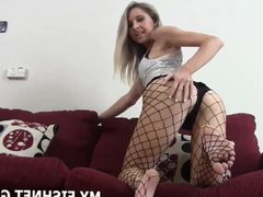 I will tease your cock in nothing but my fishnets JOI