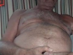 Grandpa is naughty in cam