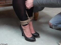 Restrained milf punished with nt by maledom