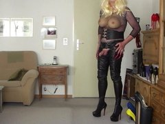 busty leather Marcelina