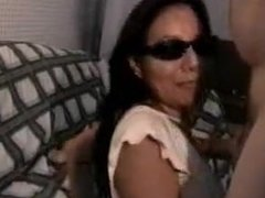 Asian Hot Wife with Shades on giving Head (WMAF)