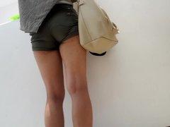 girl sexy ass, ass cheeks in shorts