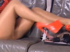 Mature Feet and Leather skirt fast motion.mp4