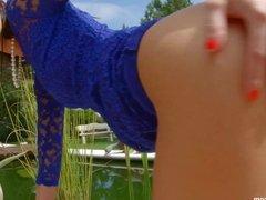 Leyla Peachbloom in deep anal scene by Ass Traffic