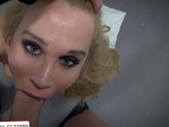 FirstClassPOV - Sarah Jessie gets dominated & punished by a monster cock