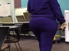Ebony Phat Purple Sweats Ass