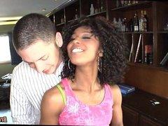 Interracial with Black Cutie