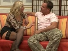 German MILF Vivia Big Tits Stockings