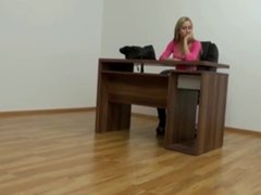 hot secretary gets nice creampie from her boss