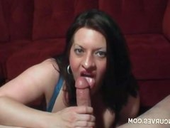 MM uses her massive tits to jerk his cock