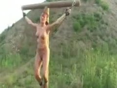 Suspension and crucifixion and a little whipping
