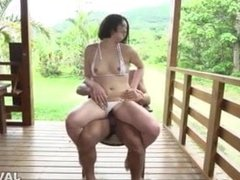 Outdoor porn sensations for superb lady
