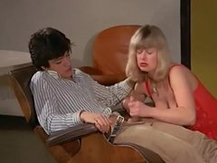 Vintage - Mature French Woman jerks off Young Guy Cock