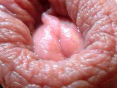 Open my foreskin with precum & cum #06