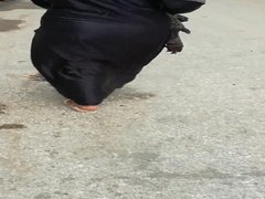 Labwa Baladi shskimg her ass in the street