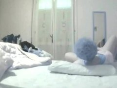 Hidden camera my wife masturbates